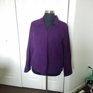CATO Purple Pull over Long sleeve Blouse